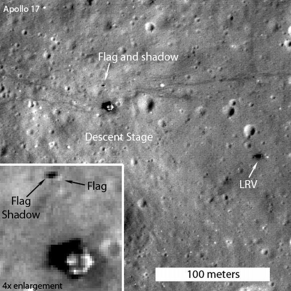 Man's mark on the moon still flying high
