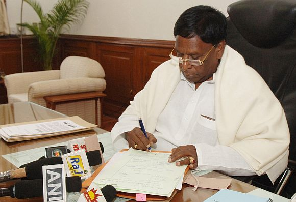 Minister of State in the Prime Minister's Office V Narayanasamy