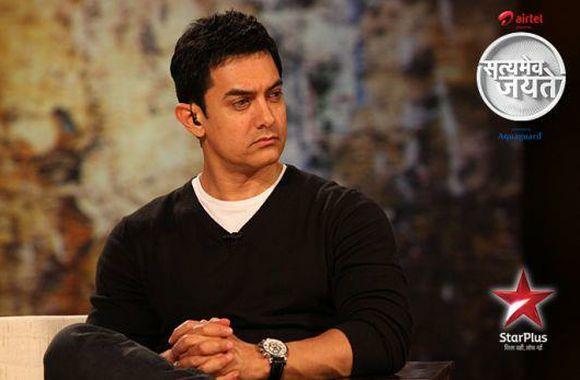 Video grab of Aamir's show