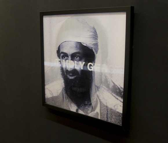 An installation titled Father, Son and The Holy Ghost by Dubai-based Indian artist Vivek