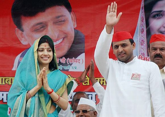 The Yadavs at an election rally