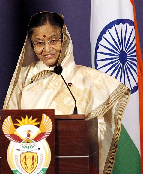 President Pratibha Patil at a news conference