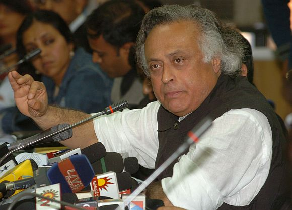 Rural Development Minister Jairam Ramesh has an unconventional work style.