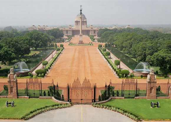 The Rashtrapati Bhavan in New Delhi