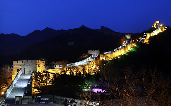 A general view shows the Badaling section of the Great Wall in China