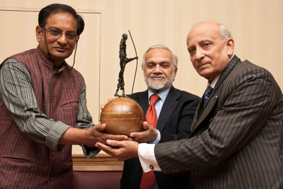 Dr Binayak Sen being awarded the Gandhi Foundation International Peace Award at the House of Lords