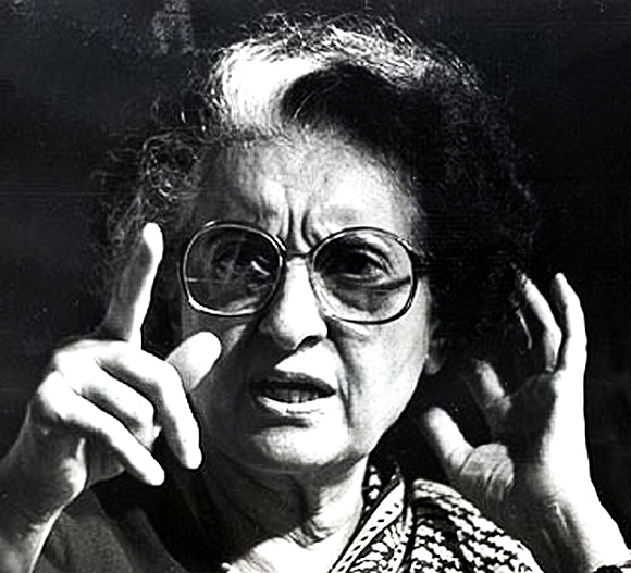 Former Prime Minister Indira Gandhi