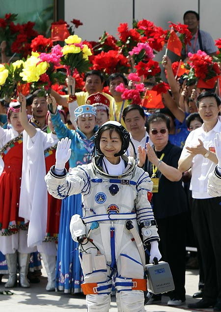 Liu, a 33-year-old fighter pilot,  joined two other astronauts aboard the Shenzhou 9 spacecraft