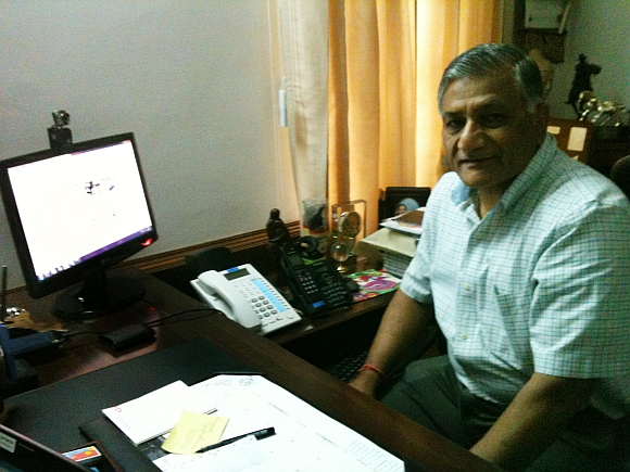 Former Army Chief General V K Singh during the exclusive Rediff chat