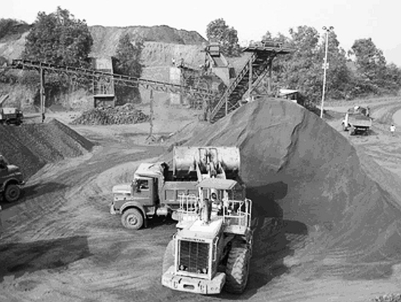 An illegal mining operation. Picture only for representation