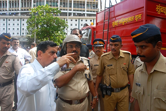 Mumbai Police Commissioner Arup Patnaik at the Mantralaya