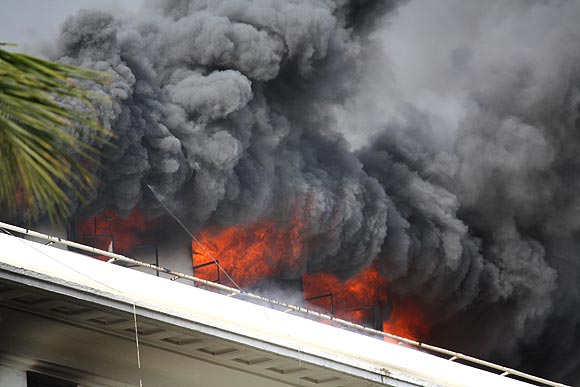 PHOTOS: Major fire at Mantralaya in Mumbai