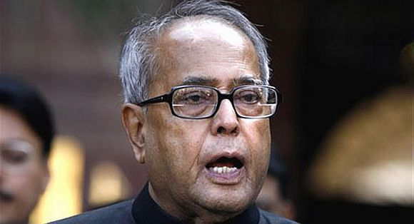 UPA Presidential candidate and Union Finance Minister Pranab Mukhrejee