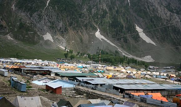 The base camp at Baltal