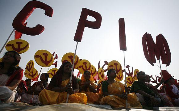 A CPI-M rally in Agartala.