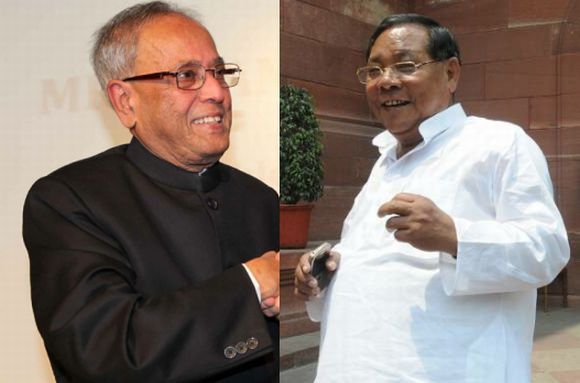 Pranab Mukherjee and P A Sangma