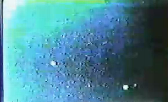Video grab of the alleged UFO sighting over Sao Paolo on May 23, 1986