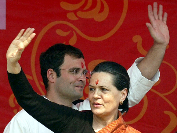 Congress president Sonia Gandhi and Rahul