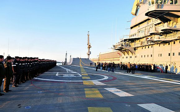 INS Vikramaditya sets the pace in sea trials