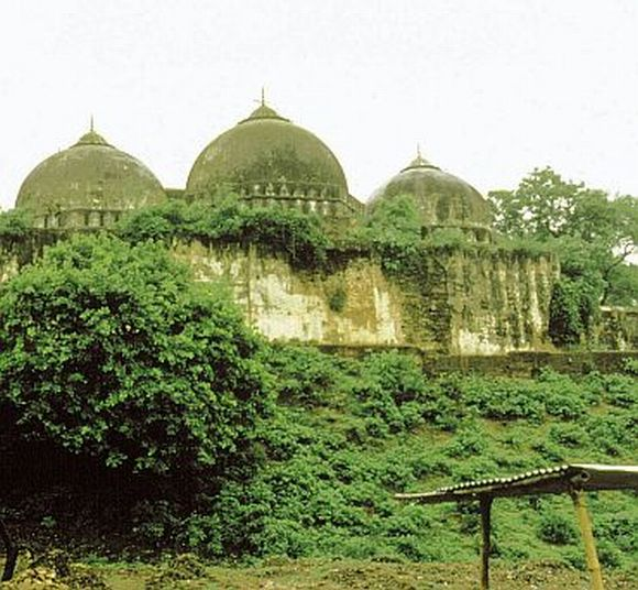 The Babri masjid as it stood