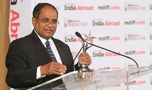 Dr Thomas Abraham, winner of the India Abroad Award for Lifetime Service to the Community