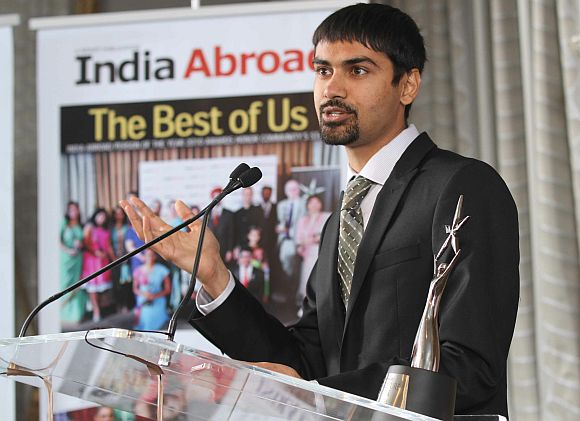 Dr Shwetak N Patel, winner of the India Abroad Face of the Future Award
