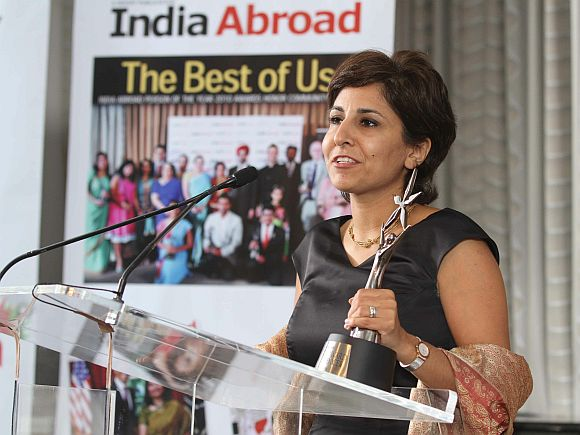 Neera Tanden, winner of the India Abroad Publisher's Special Award for Excellence