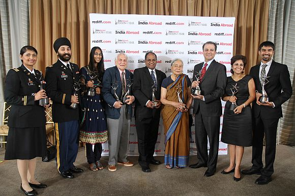 The India Abroad Person of the Year 2011 winners