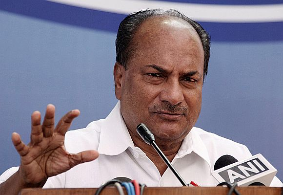 Antony's office 'bugged'? Defence ministry says NO