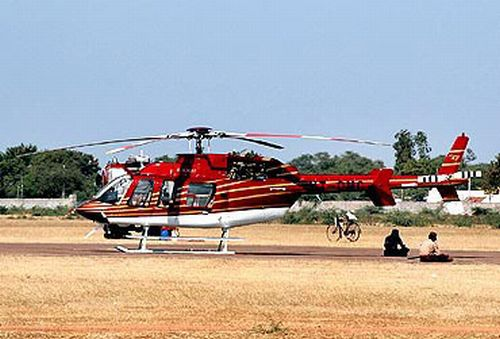 Reddy's Bell 407 helicopter