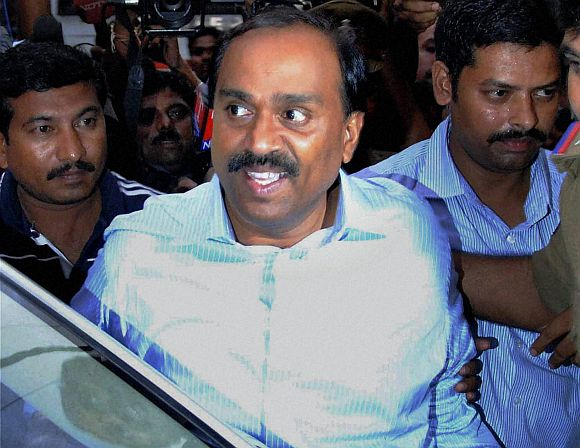Gali Janardhan Reddy being produced in court