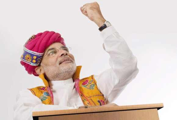 BJP's latest ad depicts Modi as Lord Krishna!