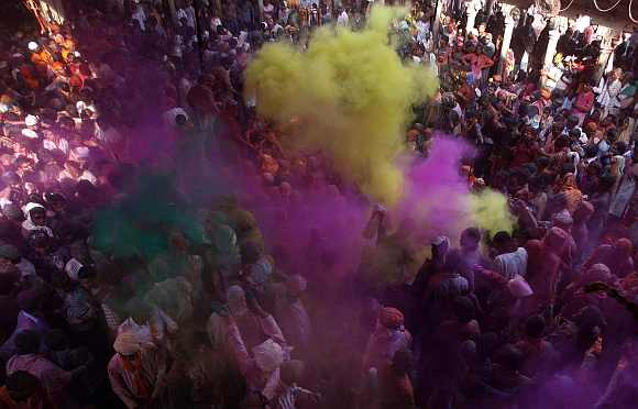 PHOTOS: Riot of colours as UP relives Radha-Krishna tale