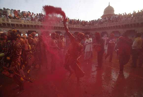 Riot of colours as UP relives Radha-Krishna tale