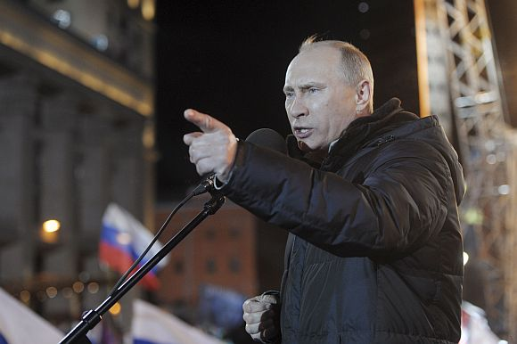 Show of strength: Vladimir Putin