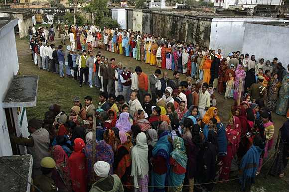 The turnout of 64 million voters in 2012 is 43 per cent higher than the 44.7 million turnout in the 2007 assembly election