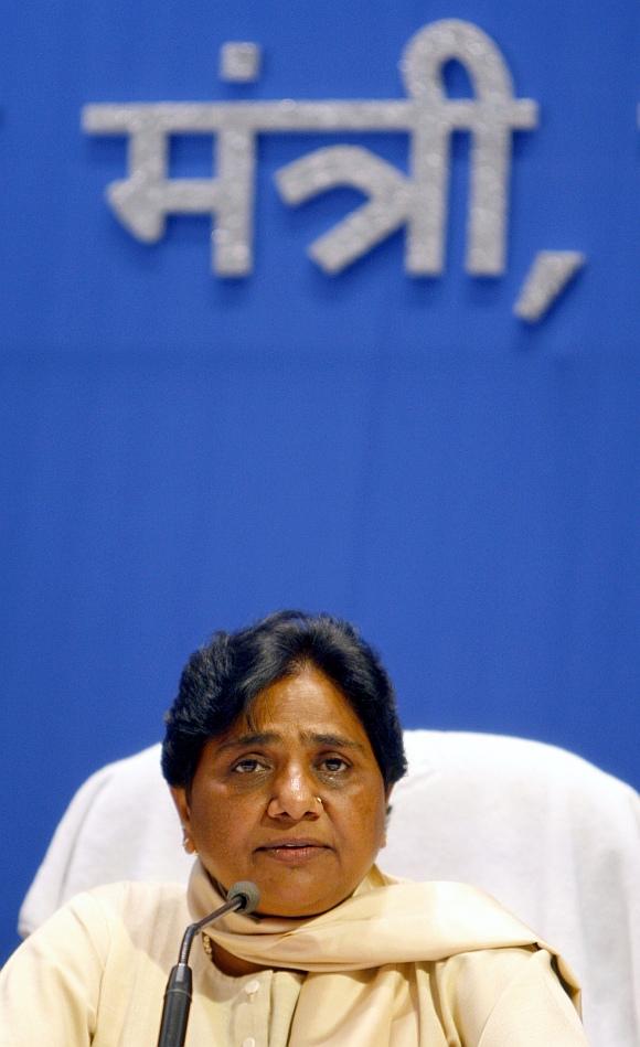 Outgoing Uttar Pradesh Chief Minister Mayawati