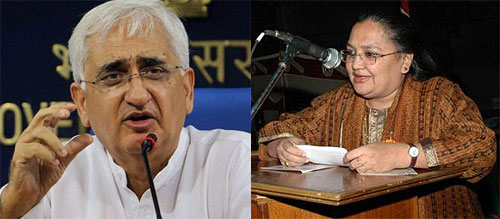 Salman Khurshid, the Lok Sabha MP from Farrukhabad, and his wife Louise Fernandes