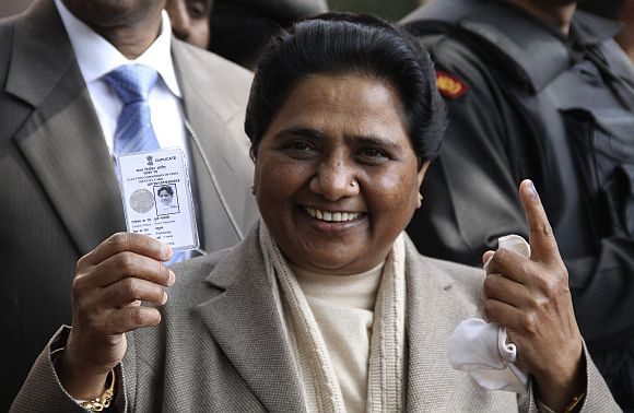 There was huge anti-incumbency against the Mayawati-led government