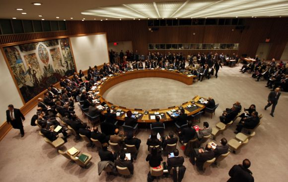 United Nations Security Council meets at UN headquarters in New York
