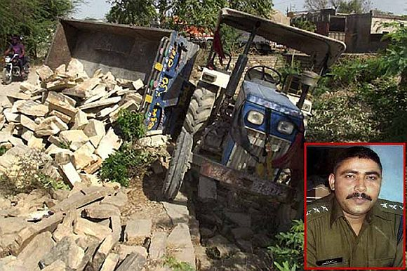 The tractor that mowed down the young IPS officer (Iset) Narendra Kumar Singh