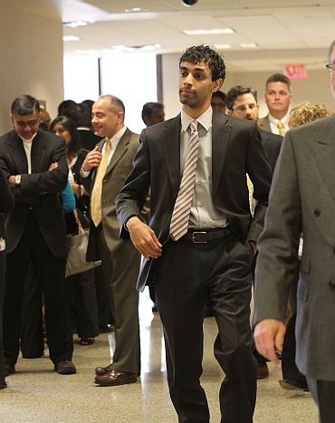 Dharun Ravi outside the courtroom