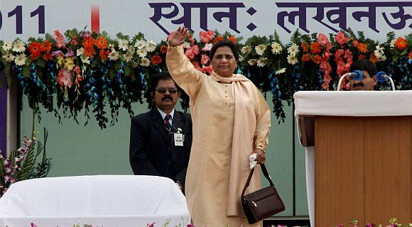 Mayawati's 4 bank accounts have over Rs 13.95 crore