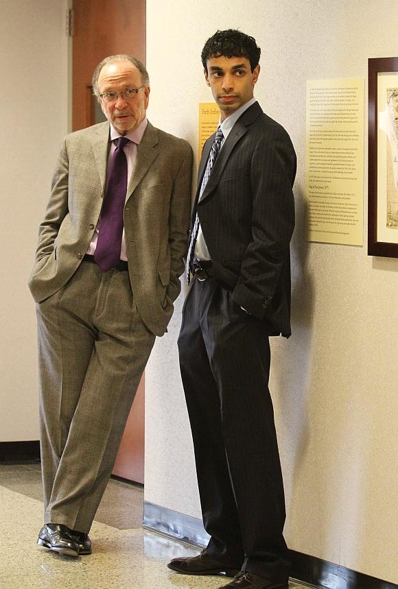 Dharun Ravi with attorney Steven Altman