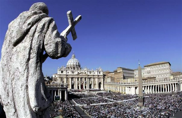 A general view of St Peter square