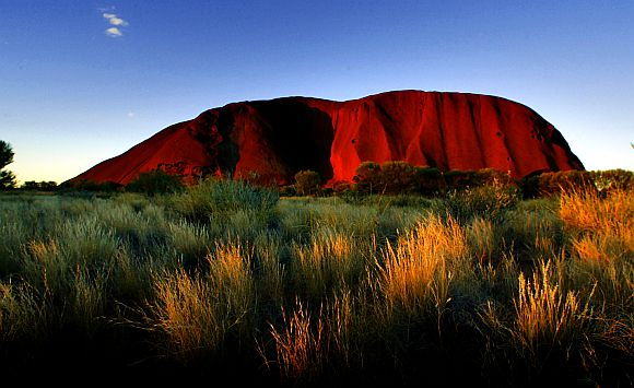 File picture of monolith sandstone formation Uluru, formerly known as Ayers Rock, the top tourist destination in Australia