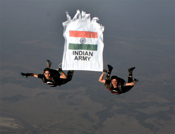 The Indian Army's Skydiving Team