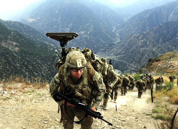 US troops in Afghanistan. America has invested too much to pull out