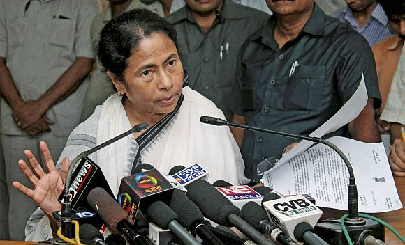 Trinamool Congress leader and West Bengal Chief Minister Mamata Banerjee