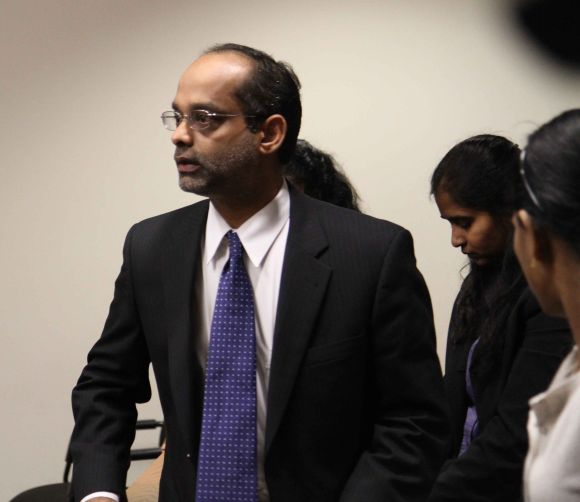 Dharun Ravi's father in the court room